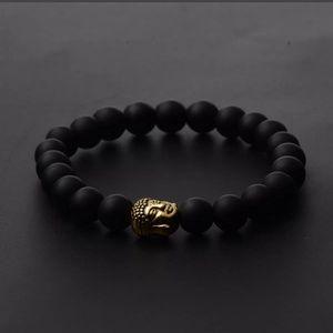New Buddha beaded lava rock bracelet